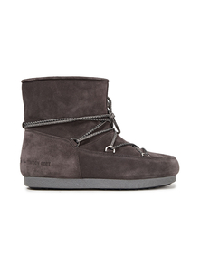 Woman Far Side Lace-up Suede Snow Boots Dark Gray Size 40 Moon Boot. Купить за 8500 руб. - Snow boots Suede Lace-up front Round toe Pull on Lined in faux fur Rub...