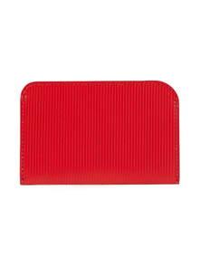 Woman Ribbed Leather Cardholder Red Size -- Victoria Beckham. Купить за 9050 руб. - Cardholder Leather Designer stamp Slit pockets Made in Italy