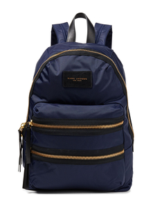 Woman Leather-trimmed Nylon Backpack Midnight Blue Size -- Marc Jacobs. Купить за 10400 руб. - Backpack Nylon Gold hardware Leather trims Two adjustable shoulder str...