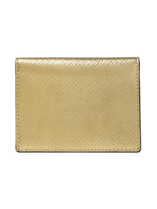 Woman Metallic Textured-leather Cardholder Gold Size -- Smythson. Купить за 5250 руб. - Cardholder Metallic Saffiano leather Designer stamp Back external comp...