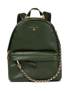 Woman Slater Chain-trimmed Textured-leather Backpack Forest Green Size -- Michael Michael Kors. Купить за 14050 руб. - Backpack Leather Textured Gold hardware Chain Designer plaque Zip fast...