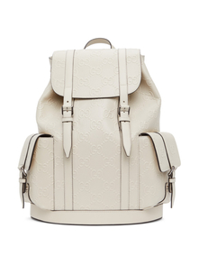 Off-White GG Embossed Backpack Gucci. Купить за 155298 руб. - Buffed leather backpack in off-white featuring perforated detailing an...