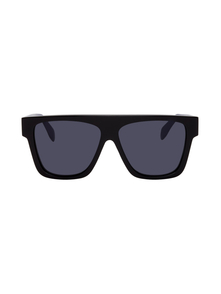 Black and Blue Selvedge Flat Top Sunglasses Alexander Mcqueen. Купить за 17424 руб. - Square acetate-frame sunglasses in black. Trim in blue throughout. Blu...