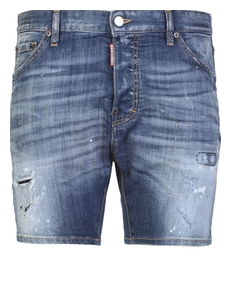 Dsquared2 Dzhinsovye Shorty S Potertostyami S74MU0398/S30281