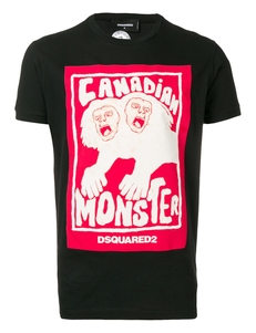 Dsquared2 Futbolka S Printom 'canadian Monster' S71GD0751S22507