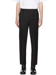 Acne Studios Black Wool Cropped Trousers 28182796