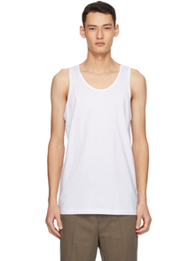 Comme Des Garcons Shirt White Jersey Tank Top 30480544