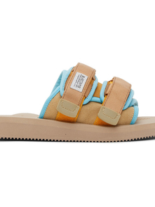 Suicoke Brown And Blue Moto-mab Lined Sandals 29561324
