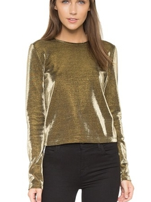 Alice + Olivia Metallizirovannyy Pritalennyy Top Tiffie ALICE4340434588112