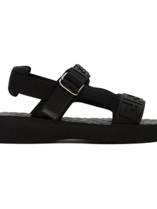 Fendi Black Logo Strap Sandals 29701115