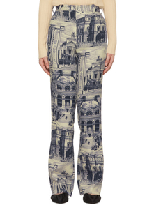 Acne Studios Blue And Taupe Phine Trousers 28426151