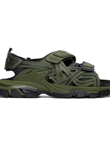 Balenciaga Green And Black Track Sandals 29525798