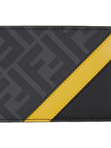 Fendi Black And Yellow Forever Bifold Wallet 29717405