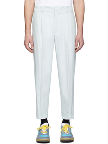 Acne Studios Blue Cropped Tapered Fit Trousers 28182149