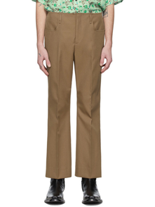 Acne Studios Brown Twill Bootcut Trousers 28184243