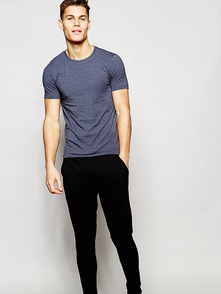 Asos Loungewear Muscle T-shirt And Skinny Joggers Set Save - Temno-siniy 24507405