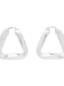 Bottega Veneta Silver Triangle Earrings 28017395