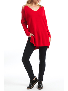 Amnesia Dzhemper 915_1003RED_V_SWEATER_RED