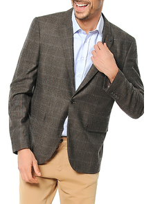 Dewberry Blazer 1010001C9023_CHECKED_BROWN